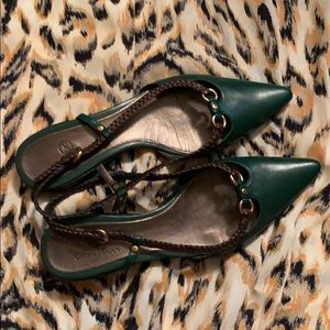 Cole Haan hunter green flats
